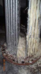 Caída de cal de la caldera de agua caliente