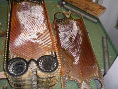 placas calcificadas del intercambiador de calor
