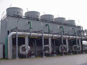 torre de refrigeración en sistema abierto